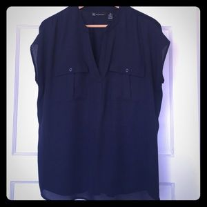 I.N.C. From Macy's navy blue blouse Size XL
